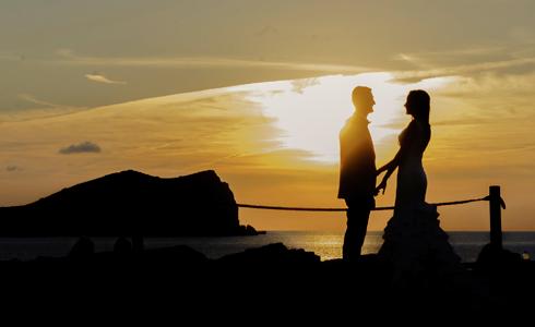 Pareja en Cala Compte, Ibiza