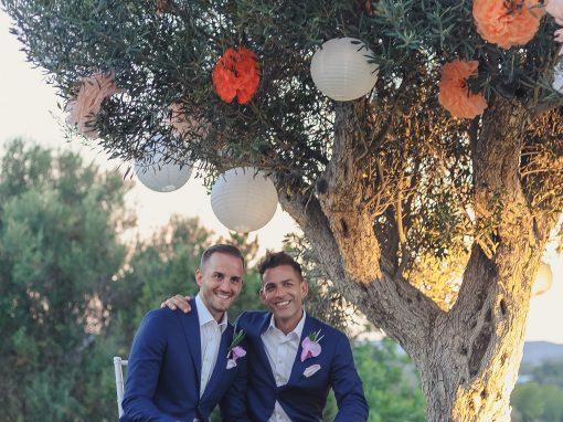 Hermosa boda en una villa, San Miguel