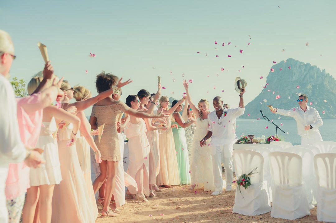 Romantica boda en acantilado